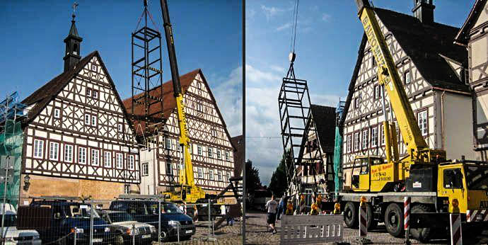 Tragwerksplanung für die Sanierung des Rathauses in Dornstetten